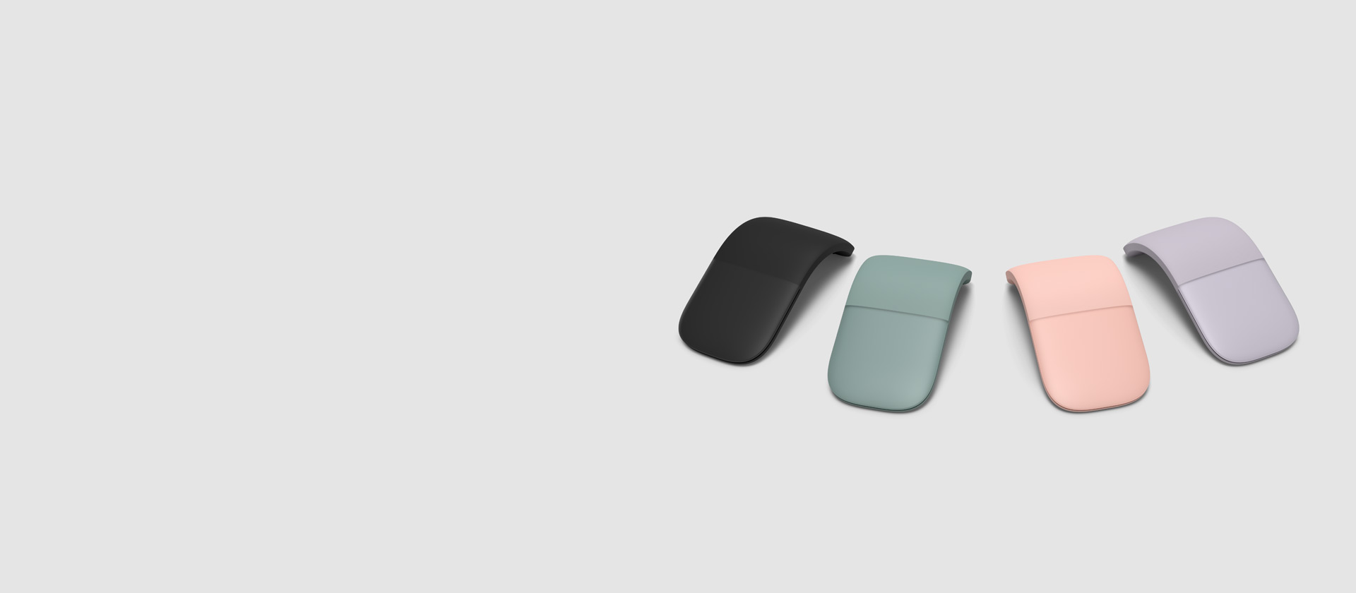 Microsoft Arc Mouse in multiple colors