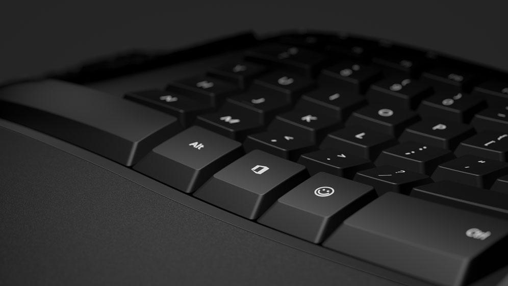 Microsoft Ergonomic Keyboard with office 365 and emoji keys