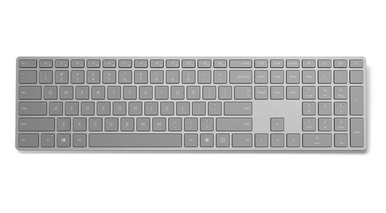 Microsoft Surface Keyboard in Gray Top View