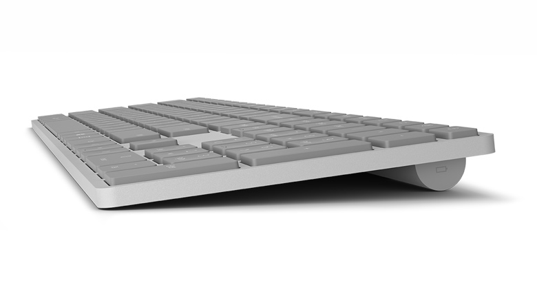 Microsoft Surface Keyboard in Gray Side View