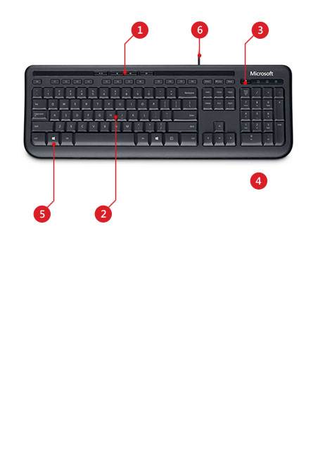Wired Keyboard 600 Features
