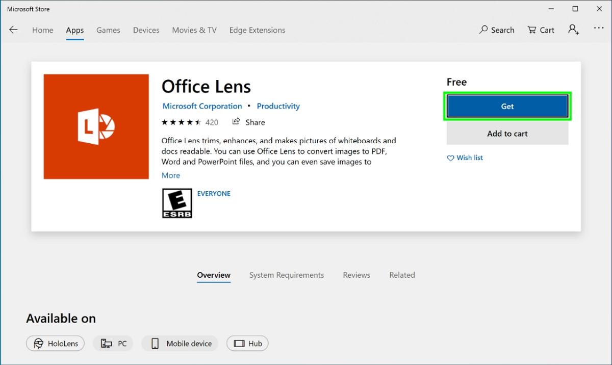 Microsoft Store get app
