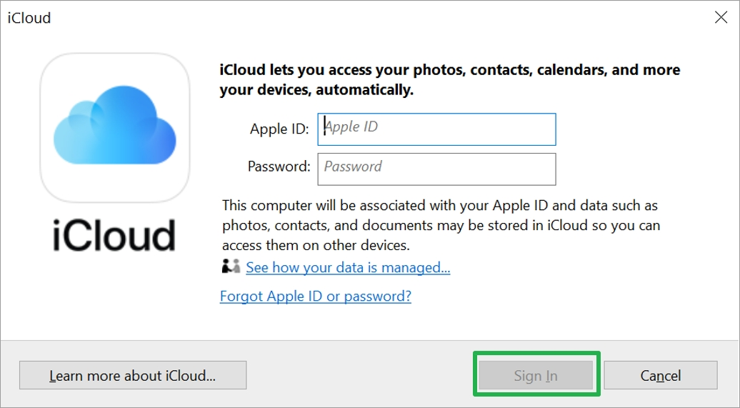 iCloud_Sign in
