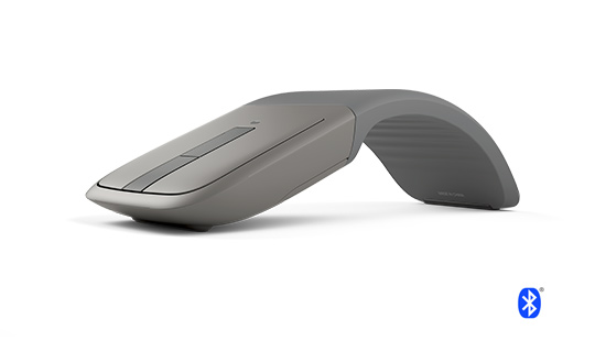 9ff5cc77e93 Microsoft Arc Touch Bluetooth Mouse in gray. Silver