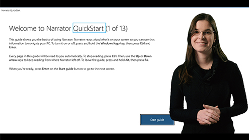 Windows Narrator gets more accessible with QuickStart