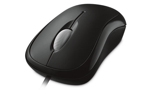 Microsoft Basic Optical Mouse in Schwarz