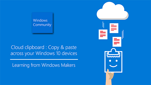 Cloud clipboard: Copy & paste across your Windows 10 devices