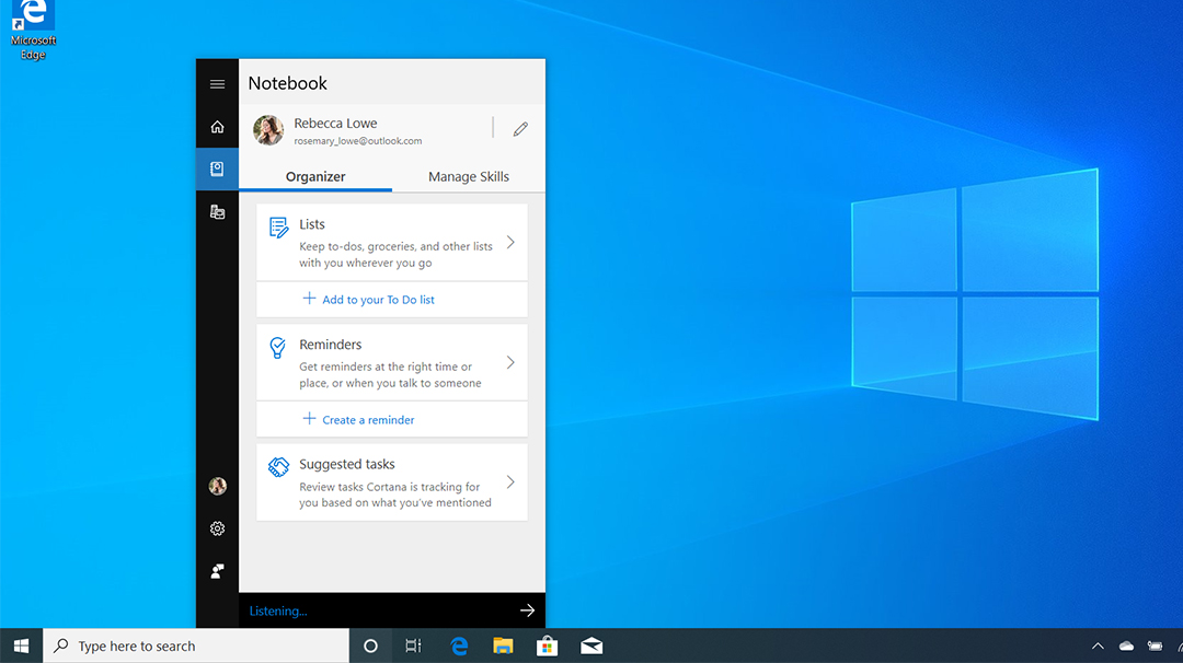 Cortana's Notebook helps you get more done