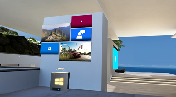 The New for You app in Windows Mixed Reality