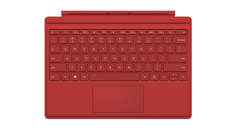 Microsoft Surface Pro 4 Type Cover in Rot