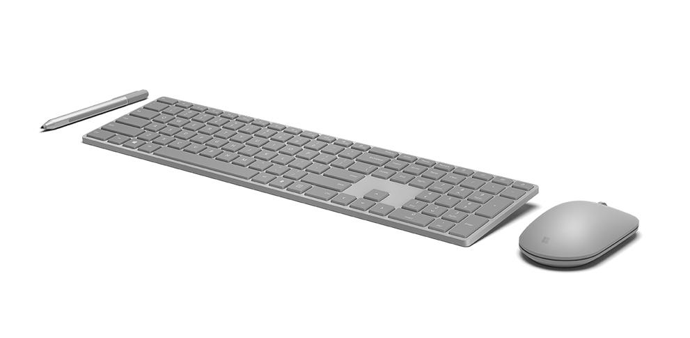 具有指紋識別功能的 Microsoft 時尚鍵盤