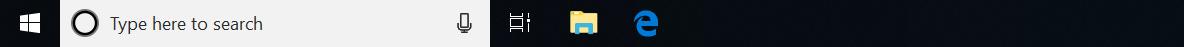 Screenshot of Windows Search field
