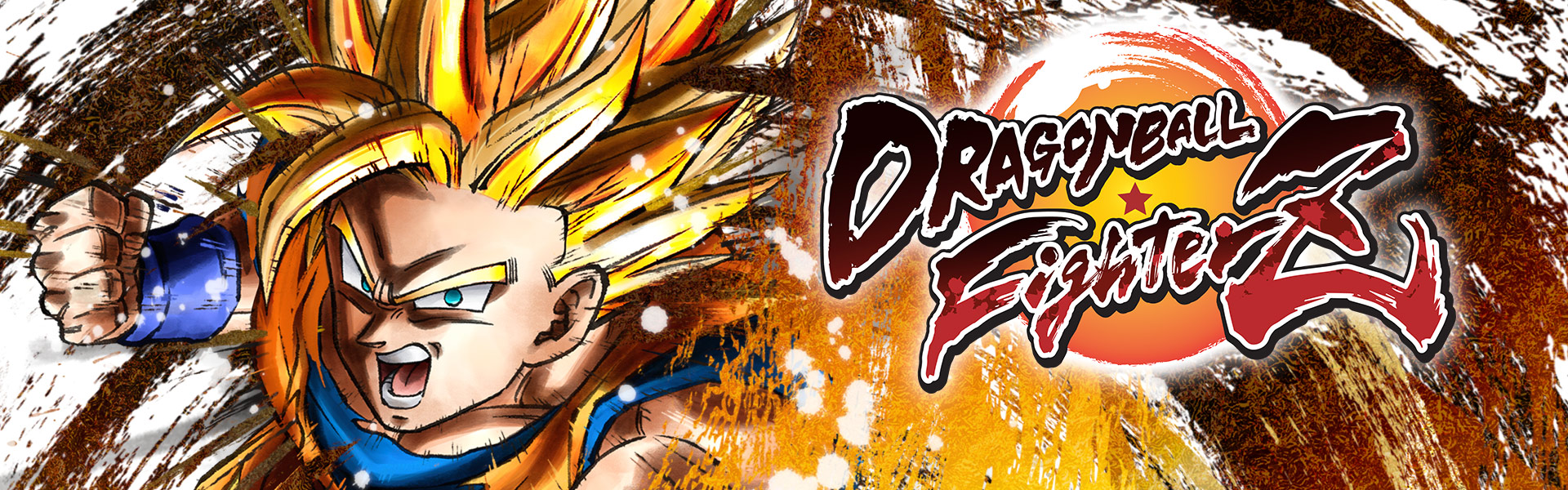 Dragon Ball FighterZ - Super Saiyan Goku tourné vers l'avant, en position d'attaque