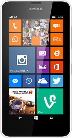 nokia lumia 635 white. nokia lumia 635 lumia white