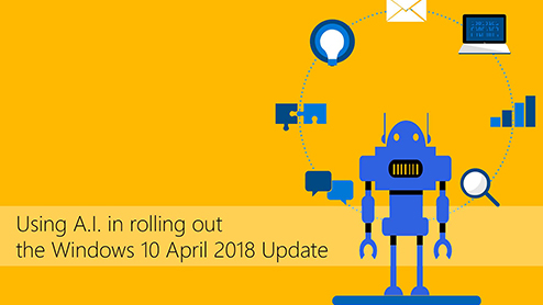Using A.I. in rolling out the Windows 10 April 2018 Update