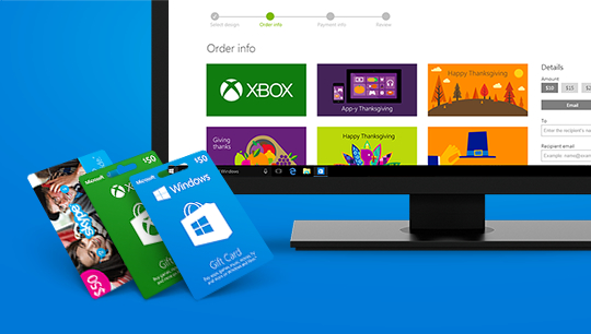 Gift cards from Microsoft