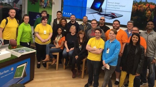 Windows Engineering team members at Porland's Microsoft Store