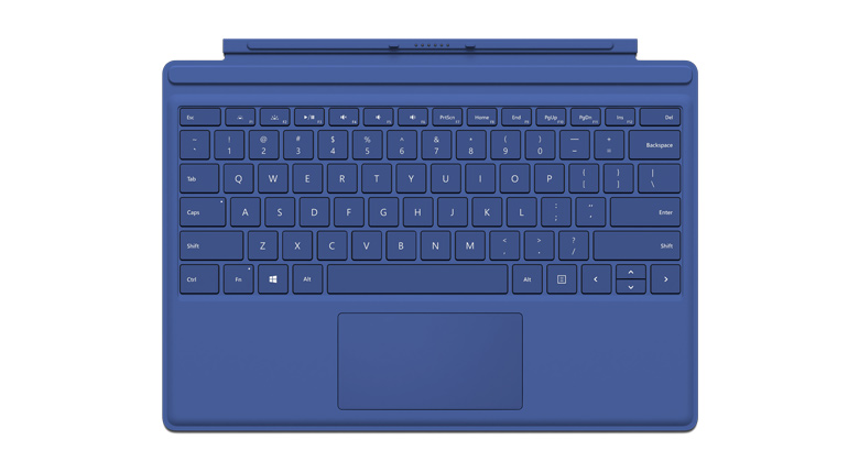 Clavier Type Cover Microsoft Surface Pro 4 en bleu