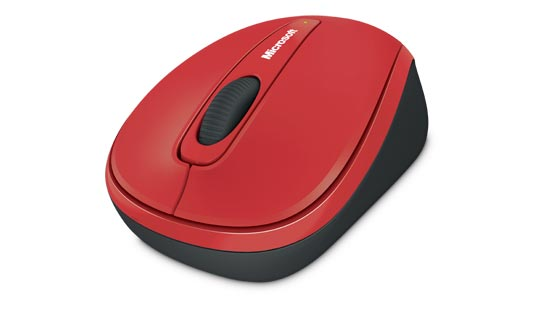 Microsoft Wireless Mobile Mouse 3500 Limited Edition in Red