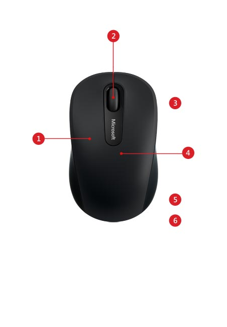 Bluetooth® Mobile Mouse 3600 features