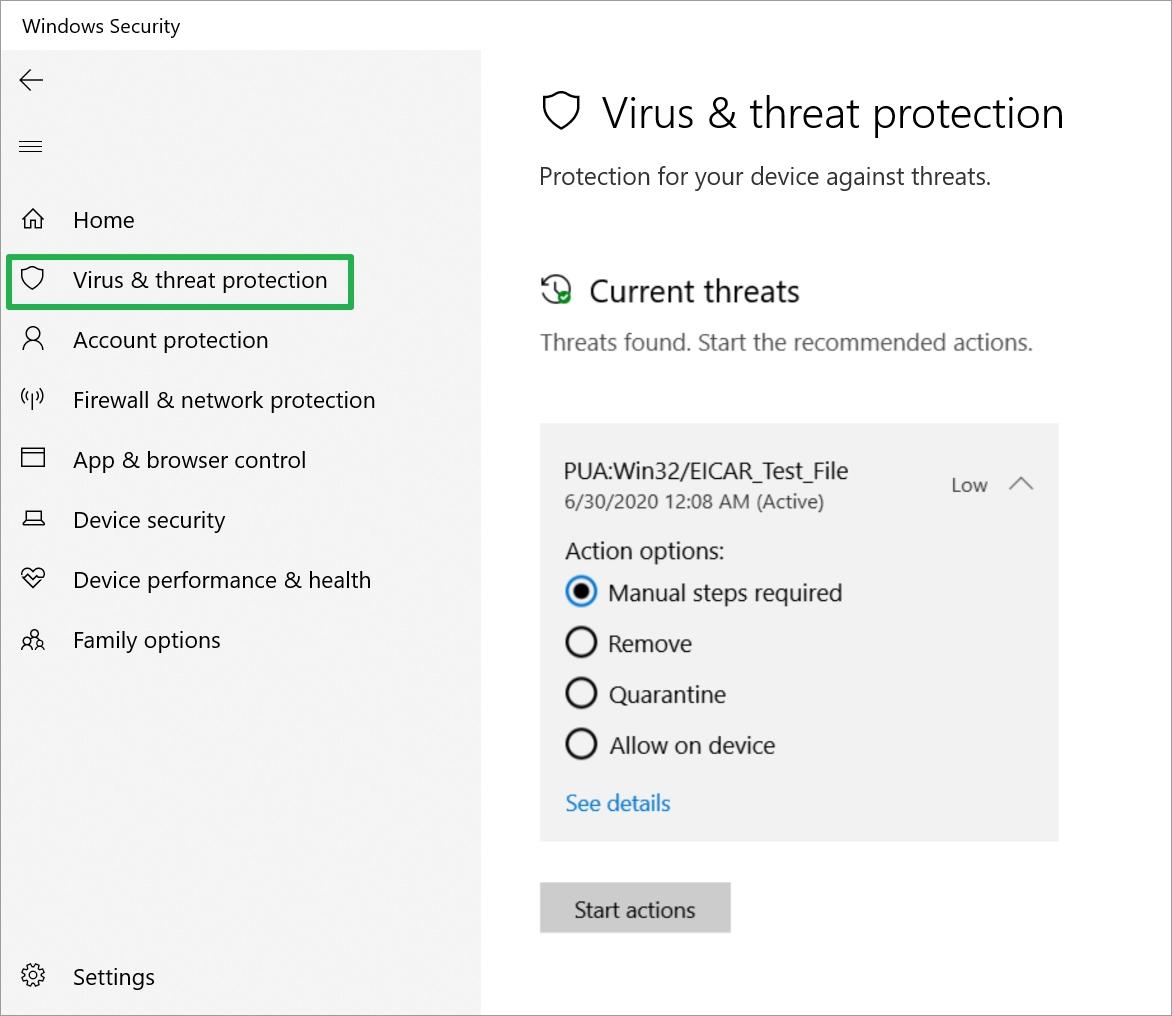PUA_threats_action options
