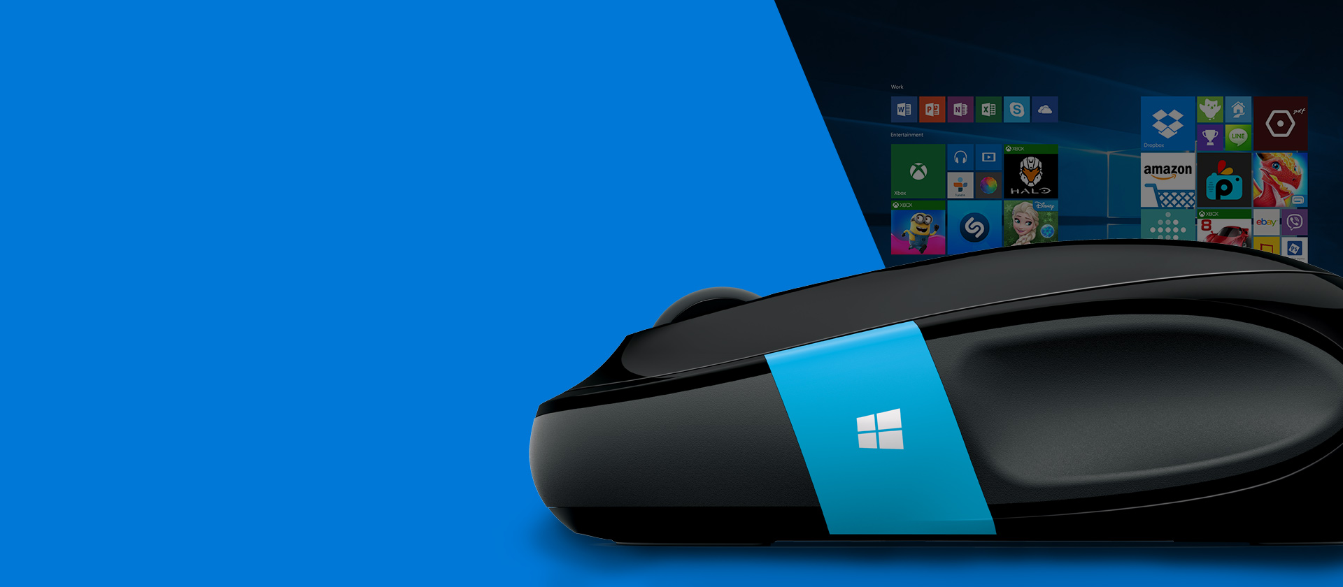Side profile of a Microsoft Sculpt Ergonomic Mouse