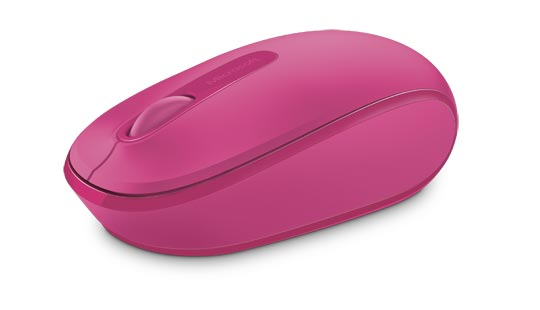Microsoft Wireless Mobile Mouse 1850 in magenta