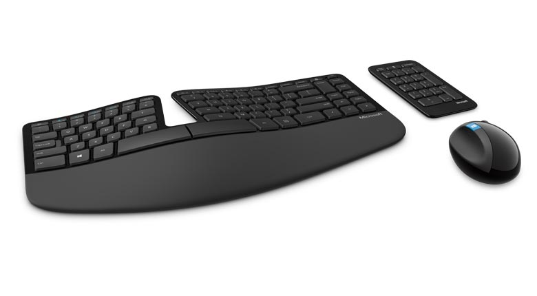 Microsoft Sculpt Ergonomic Keyboard, Mouse, and Number Pad Desktop