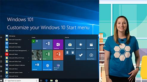 Windows 101: Organize your Start menu in Windows 10