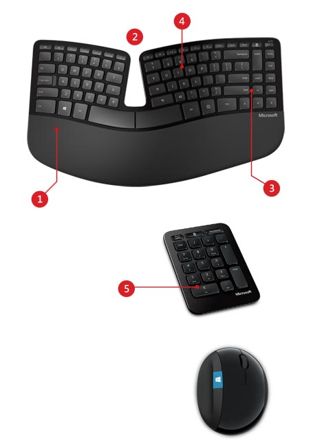 Sculpt Ergonomic Desktop product features