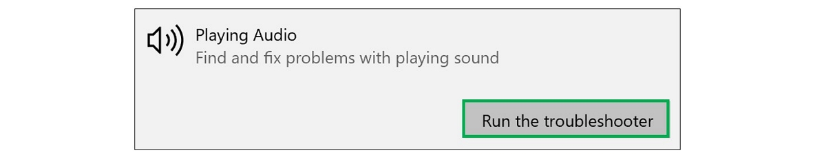 playing audio