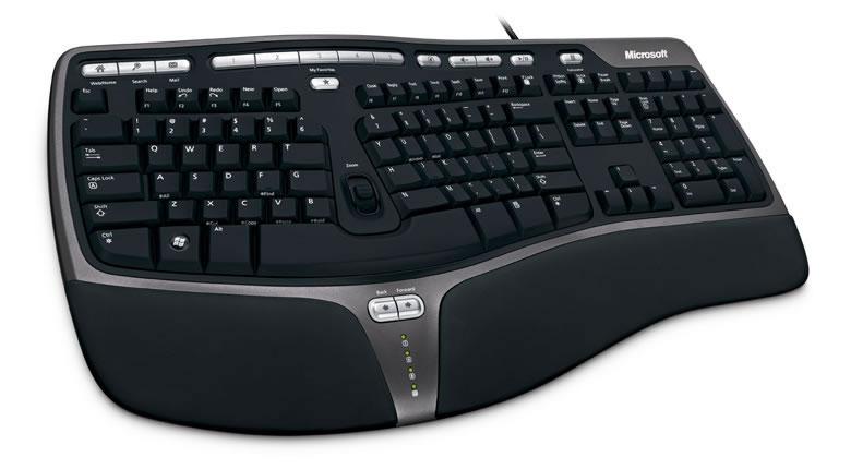 Microsoft Ergonomic Keyboard keyboard black Tastatur