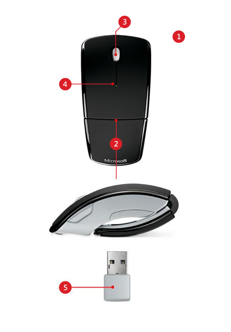 Arc mouse features