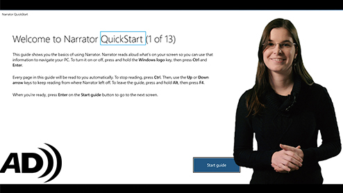 (Audio Description) Windows Narrator gets more accessible with QuickStart