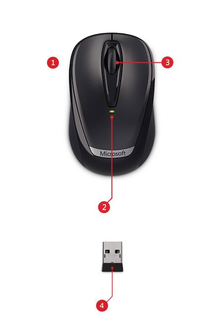 How To Connect Microsoft Wireless Mobile Mouse 3000 Model 1359