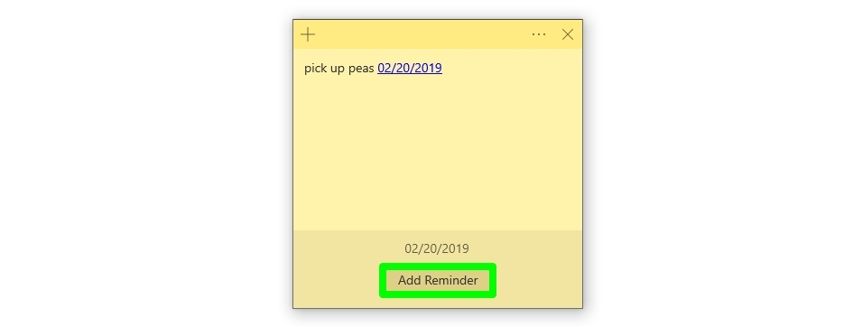 Screenshot of Sticky Note insights
