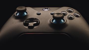 A black Xbox One controller.