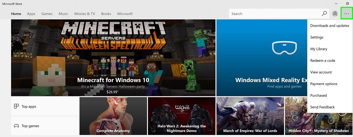 Microsoft Store app