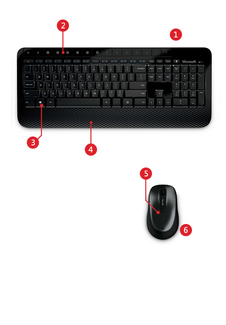 Microsoft Wireless Keyboard and Mouse Desktop 2000 Features