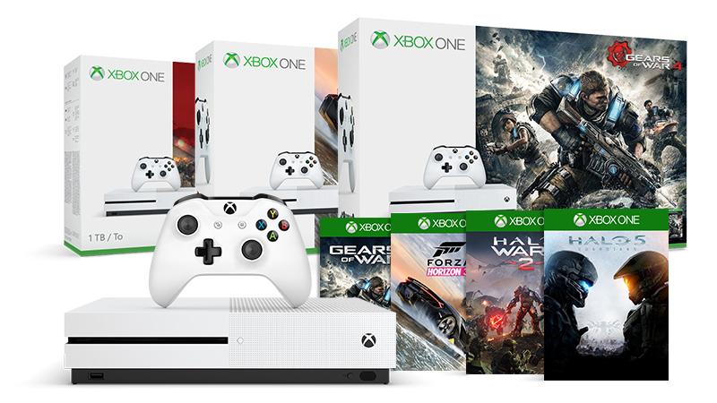 Koop een Xbox One S 1 TB Bundel + extra game naar keuze voor slechts € 69,99