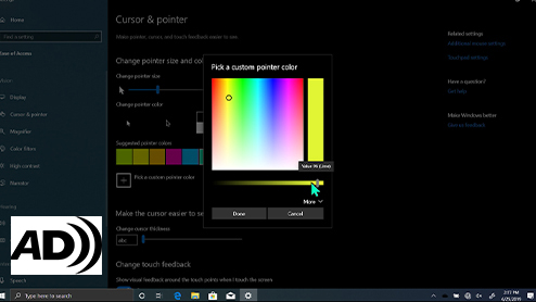Making the mouse pointers easier to see