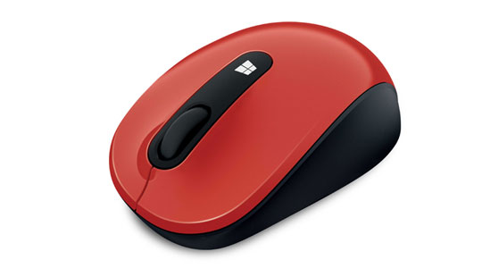 Souris Microsoft Sculpt Mobile Mouse en rouge vif