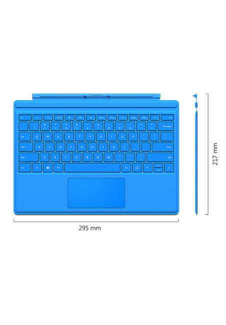 Microsoft Surface Pro 4 Type Cover in Cyan Blue  Specifications