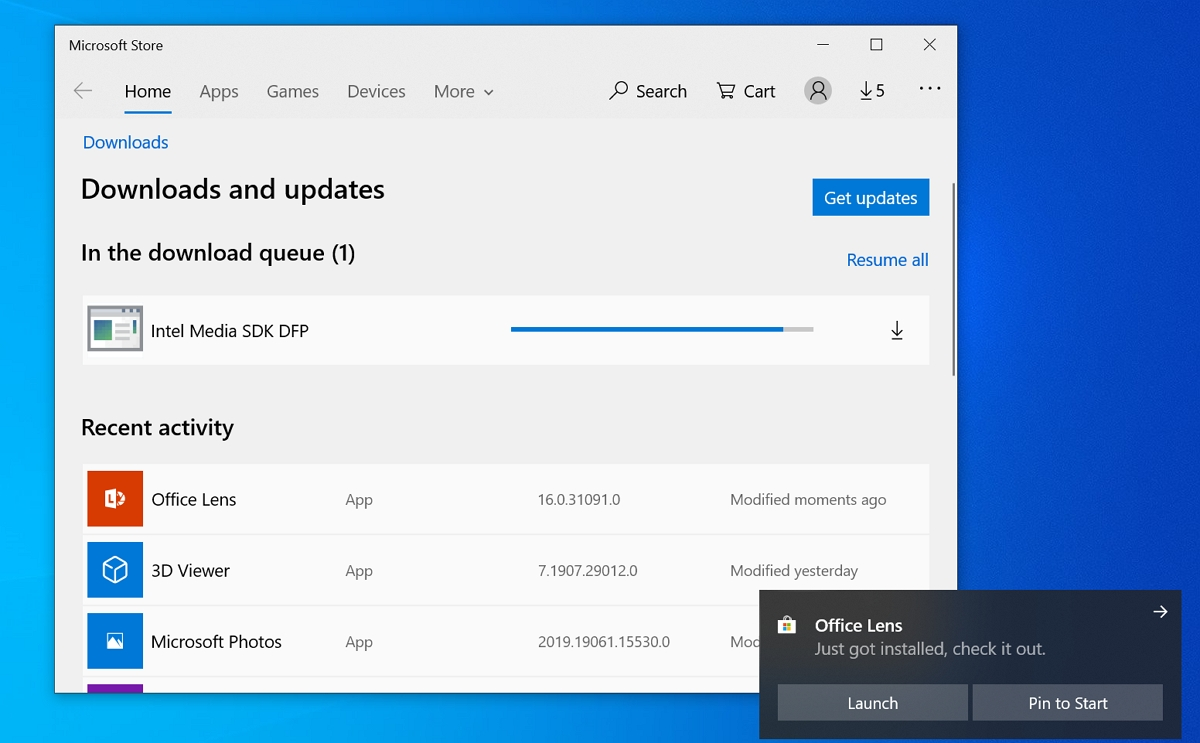 Microsoft Store app updates