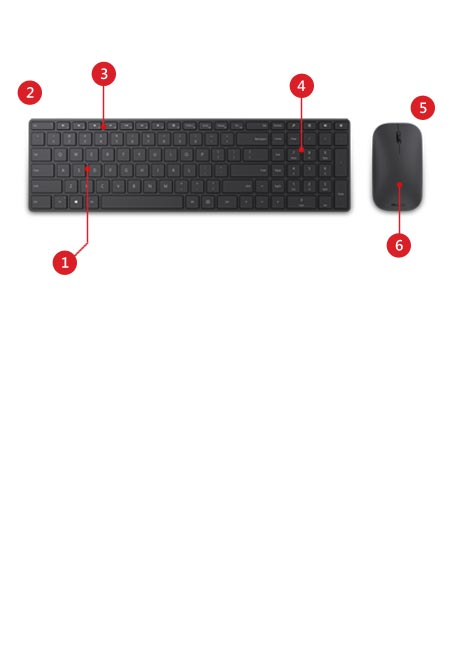 Microsoft Designer Bluetooth Keyboard und Mouse Desktop – Funktionen