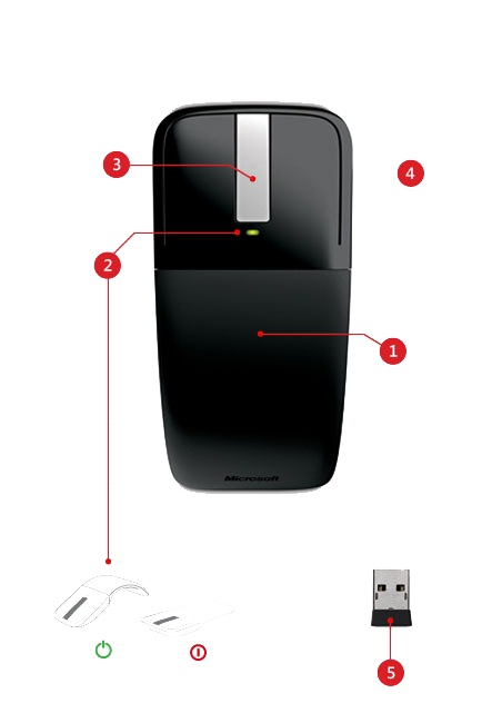 Arc touch mouse features