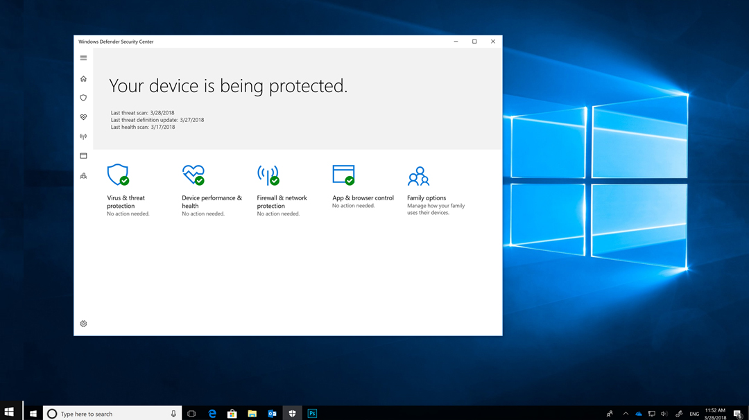 Take control of your security with Windows Defender Security Center