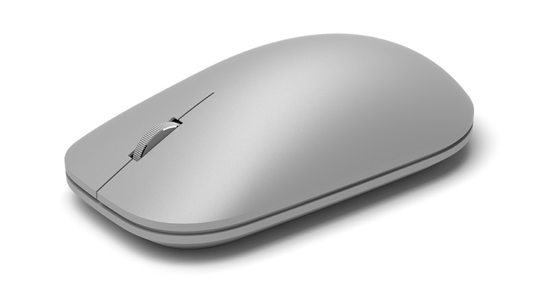 Microsoft Surface Mouse in Gray Side View