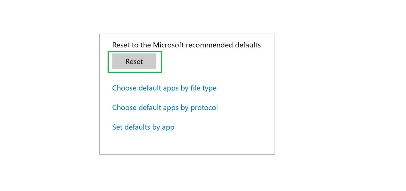 Set defaults by app setting