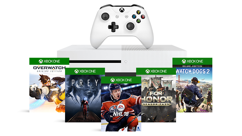 Buy a select Xbox One S console and get a free game of your choice